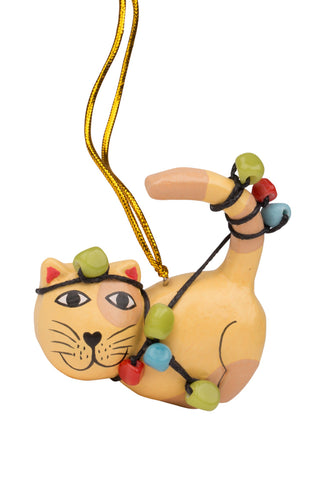 Christmas - Tangled Up Cat Ornament