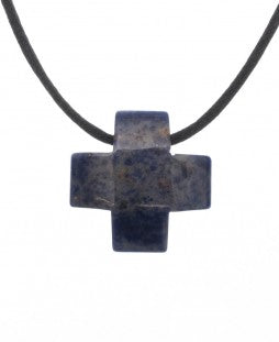 Jewelry - Sodalith Cross Pendant
