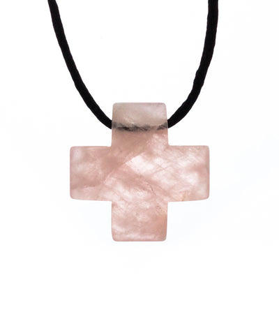 Jewelry - Rose Quartz Cross Pendant