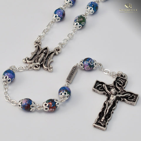 Rosary - Annunciation, Silver Plated Rosary
