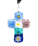 Jewelry - Multicolored Italian Glass Cross Pendant