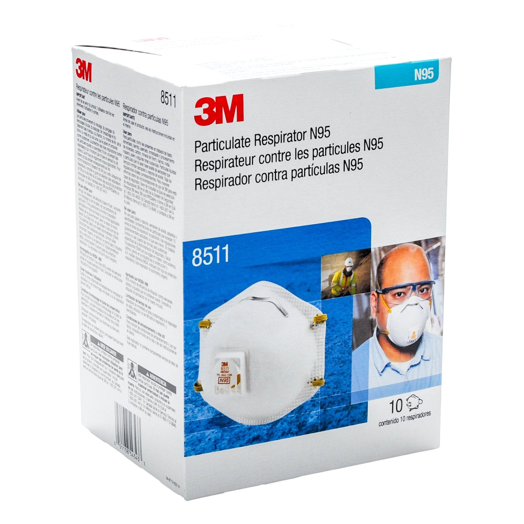 3M® N95 8511 Masks (10 Pack) Universal IN STOCK! CALL TO ORDER. - Bayview Pharmacy