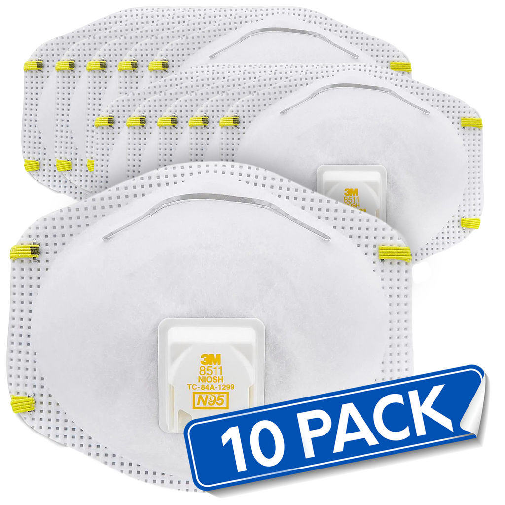 3M N95 Particulate Respirator Face Masks (Pack of 10)