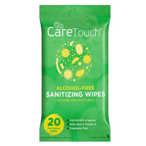 CareTouch Alcohol Free Sanitizing Wipes w/ Aloe 20ct GREAT FOR BACK TO SCHOOL! - Bayview Pharmacy