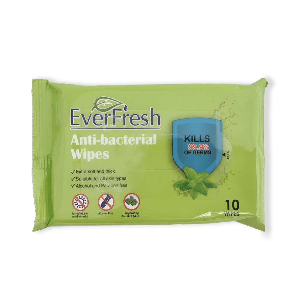 EverFresh Antibacterial Wipes 10ct GREAT FOR BACK TO SCHOOL! - Bayview Pharmacy