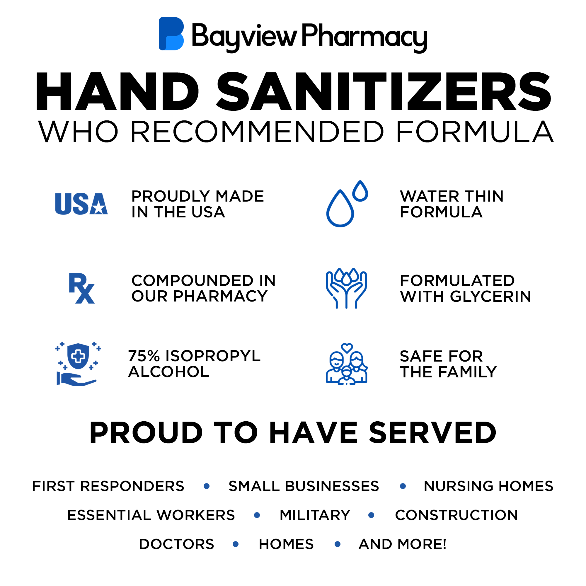 Gallon Hand Sanitizer Solution 50% OFF - Bayview Pharmacy