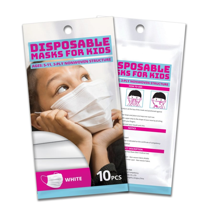 Kids Disposable Face Masks (Pack of 10) - Bayview Pharmacy
