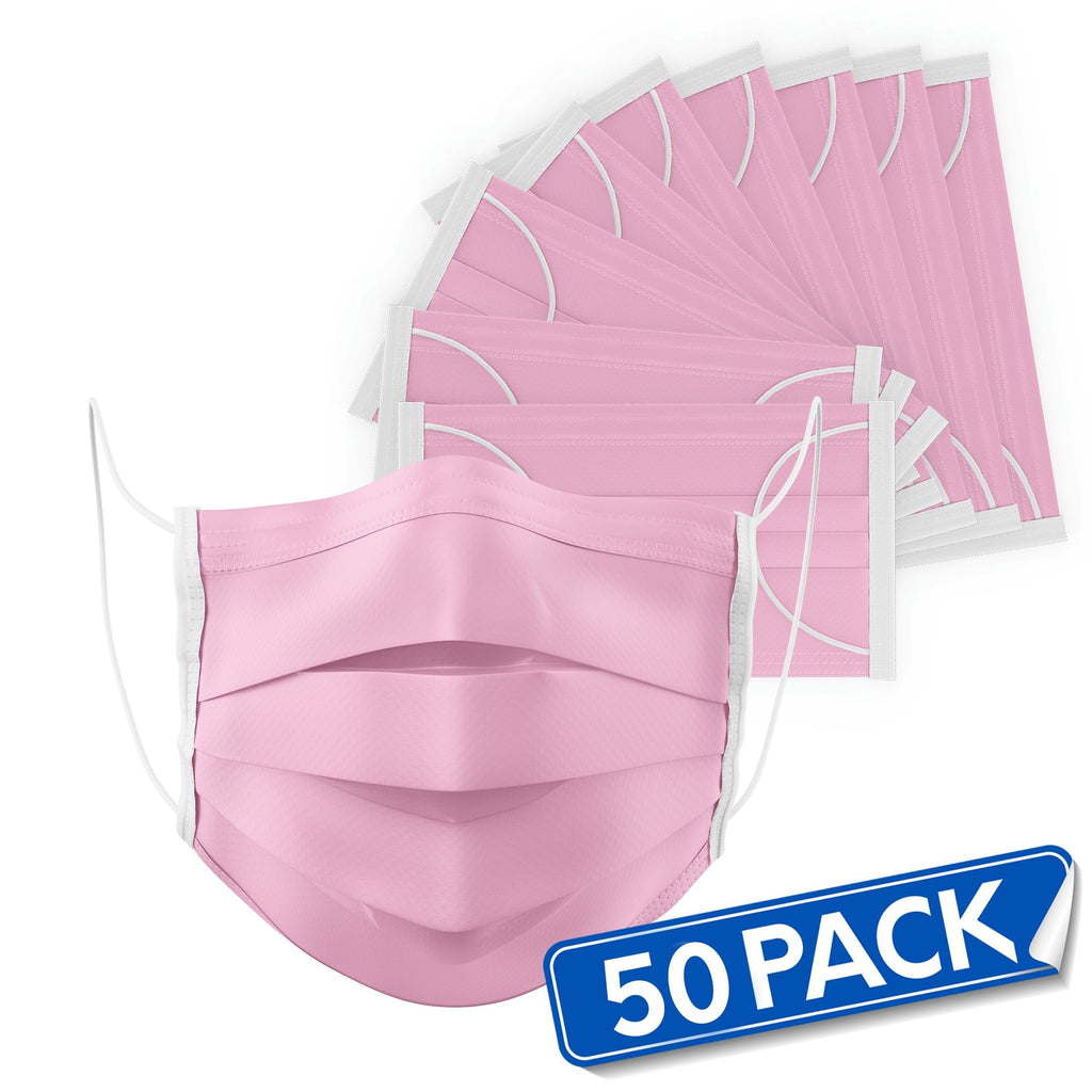PINK Disposable Face Masks (Pack of 50) - Bayview Pharmacy