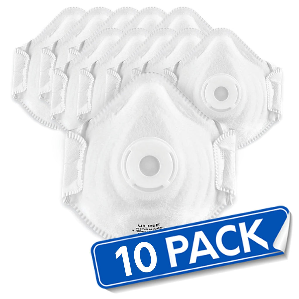 Uline® N95 Deluxe Particulate Respirator Face Masks w/ Valve + (2) Purell® FREE - Bayview Pharmacy