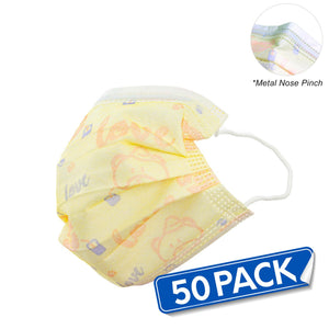 YELLOW Kids Disposable Face Masks (Pack of 50) - Bayview Pharmacy