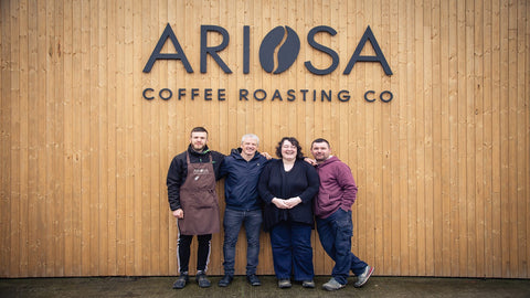 Ariosa Coffee Roasters. Slow roasted coffee. Specialty coffees.