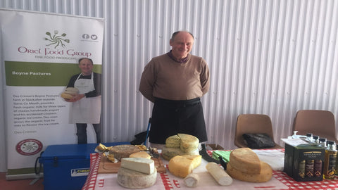 Des Crinion, a producer of both goat & cow's cheese.