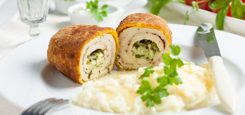 Hugh Maguire's Chicken Kiev with Spring Onion & Asparagus