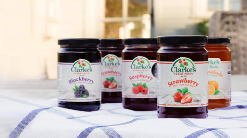 Clarke's Fresh Fruit, producers of jams & marmalades made from their own family farm in Stamullen, Co. Meath.