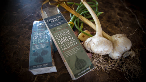 Drummond House Garlic & Asparagus Growers. We produce 5 varieties of home grown garlic, along with Scape.