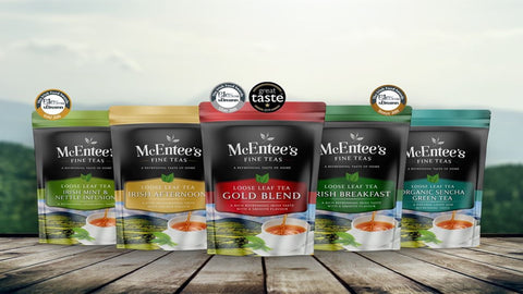 McEntee's Irish Tea, Award winning blends of traditional Irish loose tea.