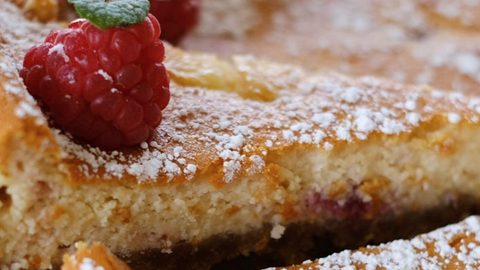 Tara Walker's Baked White Chocolate & Raspberry Cheesecake