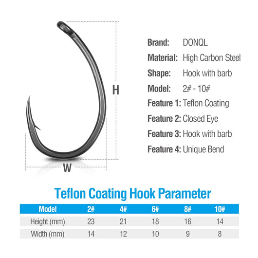 10/20 pcs Circle Fishing Hooks