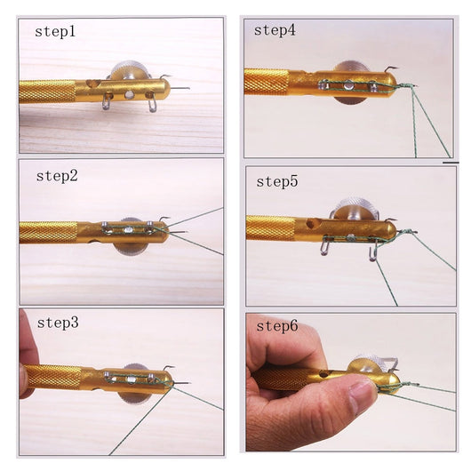Quick and easy fishing knot tying tool