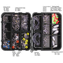 160pcs Fishing Accessories Kit Set With Fishing Tackle Box Included