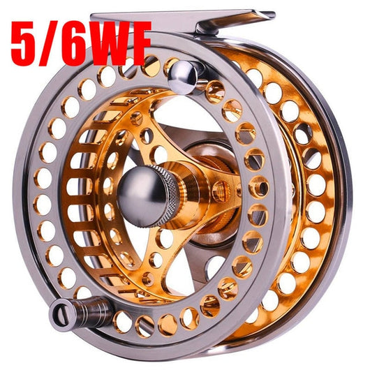 Large Fly Fishing Reel  Aluminium Alloy Spool