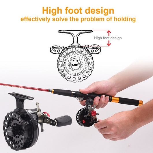 Fly Fishing Reel With Dual Anti Slip Handles