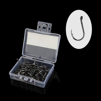 100 PCS High Carbon Steel Fishhooks
