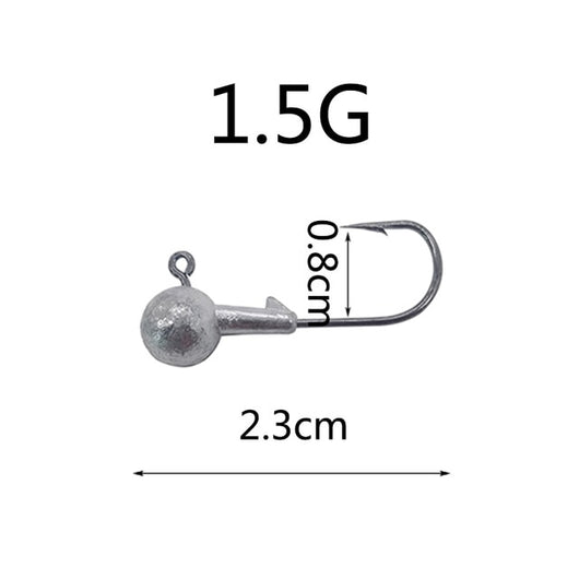5 Piece Jig Head Hook 1.5g 2g 3.5g 5g 7g 10g