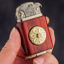 Load image into Gallery viewer, Handmade Custom Collection Bald Eagle Windproof Flame Kerosene To Bead Lighter Premium Wood Reusable(Plus The Gift Box Is More High-grade)
