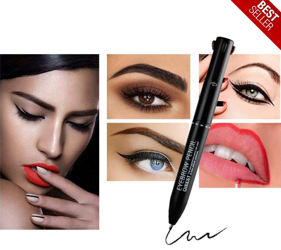 4 in 1 Waterproof Smudgeproof Longlasting Eyebrow Pencil