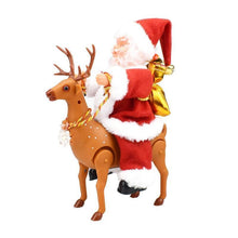 Load image into Gallery viewer, Santa Claus Riding An Electric Reindeer