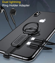 Load image into Gallery viewer, Dual Lightning/Lightning to 3.5mm Audio+Lightning plug Ring Holder Adapter