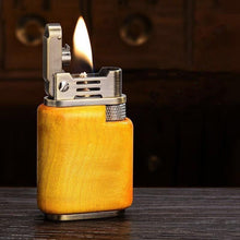Load image into Gallery viewer, Handmade Custom Collection Automatic ignition Windproof Flame Kerosene To Bead Lighter Premium Wood Customizable Logo (Plus The Gift Box Is More High-grade)
