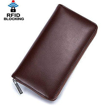 Load image into Gallery viewer, RFID Blocking Credit Card Holder Leather Long Business Cardholder Anti Theft Travel Wallet Retro by 36 Card slot