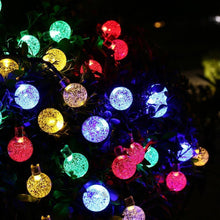 Load image into Gallery viewer, Multi-color Solar Powered Crystal Ball String Lights