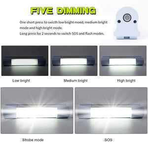 Portable USB Rechargeable Magnetic LED Camping Light