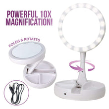 Load image into Gallery viewer, Double Sided LED Vanity Mirror - Buy 2 Free Shipping