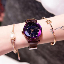 Load image into Gallery viewer, Star-studded magnetic ladies watch(buy a watch get a free bracelet)
