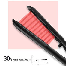 Load image into Gallery viewer, Anti-Static Ceramic 2 in 1 Straightener and Curling Iron Dual