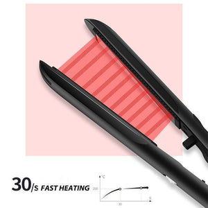 Anti-Static Ceramic 2 in 1 Straightener and Curling Iron Dual