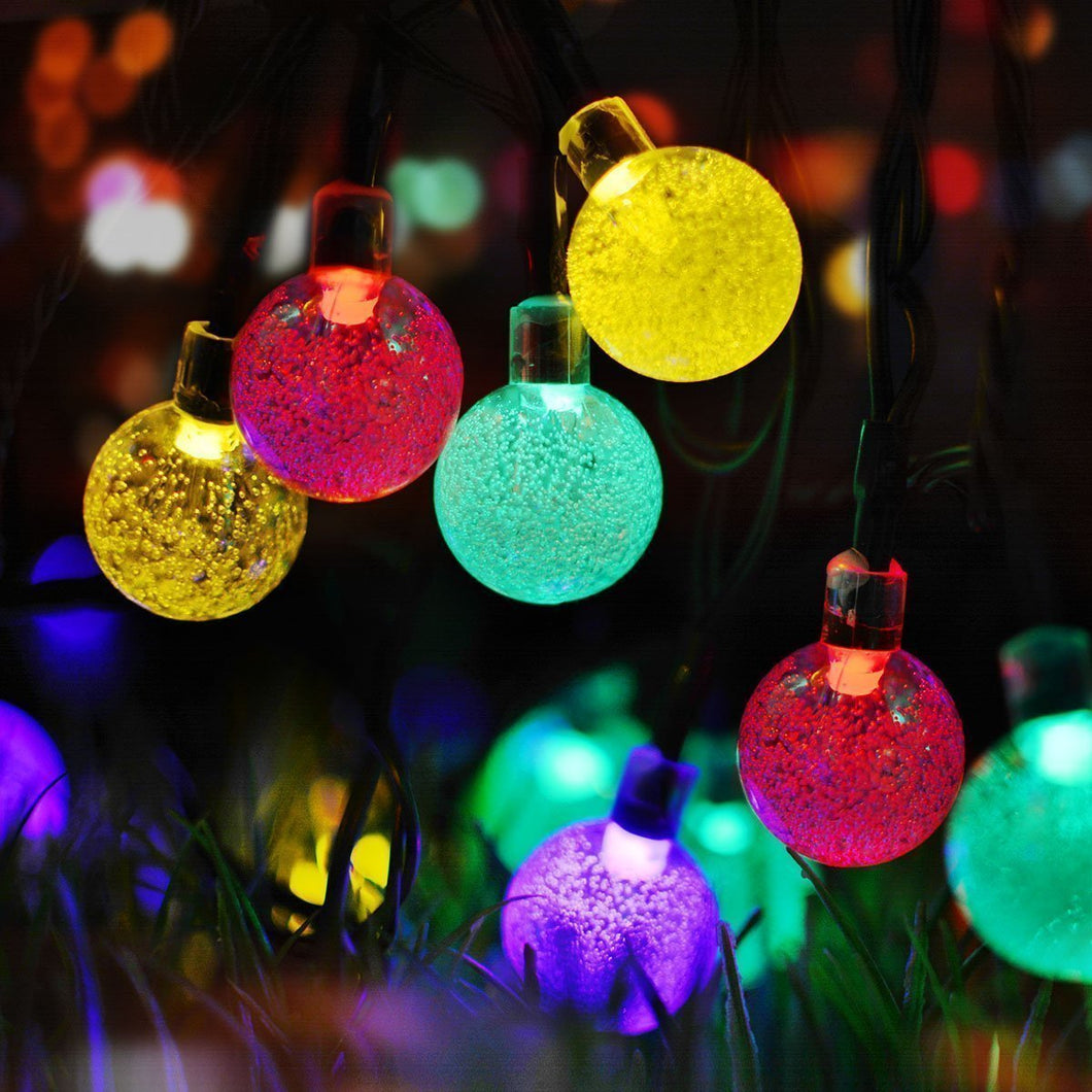 Multi-color Solar Powered Crystal Ball String Lights