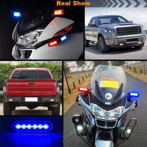 6LED Car Strobe Flash Lights