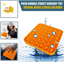 Load image into Gallery viewer, Stress Reliever-Silicone Push Pop Bubble Fidget Sensory Toy
