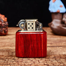 Load image into Gallery viewer, Handmade Custom Premium Wood Windproof Flame Kerosene to bead lighter(Plus the gift box is more high-grade)