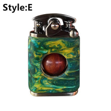 Load image into Gallery viewer, NEW Product Upgrades!! ZORRO Beautiful Starry Sky Wood Handmade Custom Windproof Kerosene to bead lighter(Plus the gift box is more high-grade)