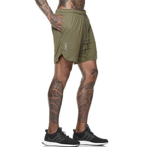 2-in-1 Secure Pocket Shorts-- Quick Drying Cool Gym Shorts