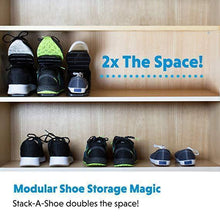 Load image into Gallery viewer, Double Deck Shoe Rack - A Space Saving Storage Solution!