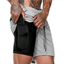 Load image into Gallery viewer, 2-in-1 Secure Pocket Shorts-- Quick Drying Cool Gym Shorts