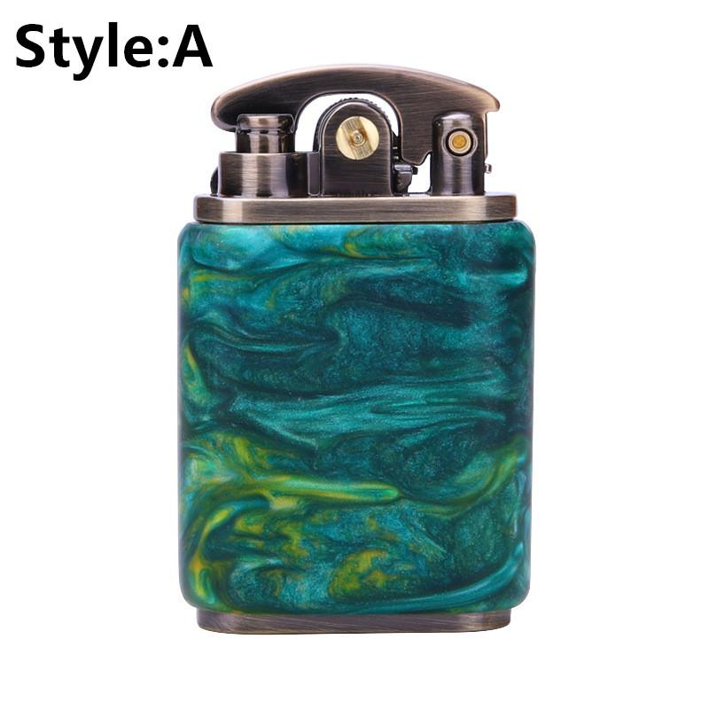 NEW Product Upgrades!! ZORRO Beautiful Starry Sky Wood Handmade Custom Windproof Kerosene to bead lighter(Plus the gift box is more high-grade)