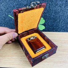 Load image into Gallery viewer, Handmade Custom Collection WHEEL OF FORTUNE Reusable Windproof Flame Kerosene To Bead Lighter Premium Wood Customizable Logo(Plus The Gift Box Is More High-grade)